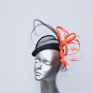 Black and Orange structured hatinator 15017/SD258